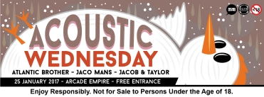 25 January 2017 - Acoustic Wednesday