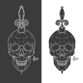 New Cult Love-Skull Flair